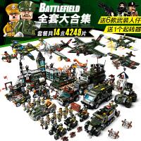 军事系列兼容乐高积木儿童拼装玩具男孩子6-8岁5飞机坦克