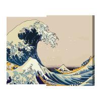 数字油画diy海浪大海浮世绘填色画油彩名画客厅神奈川冲浪里