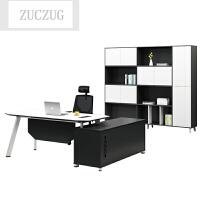ZUCZUG新款办公家具办公桌总裁桌经理桌大班台老板桌简约现代桌柜组合