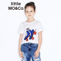 littlemoco男女童立体小滑轮贴布绣短袖T恤KA172TEE214 moco