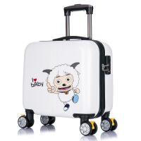 儿童拉杆箱小男女孩旅行箱喜洋洋卡通登机密码箱16寸小学生行李箱