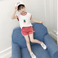 女童夏装套装新款韩版儿童短袖短裤休闲运动宝宝背心两件套潮