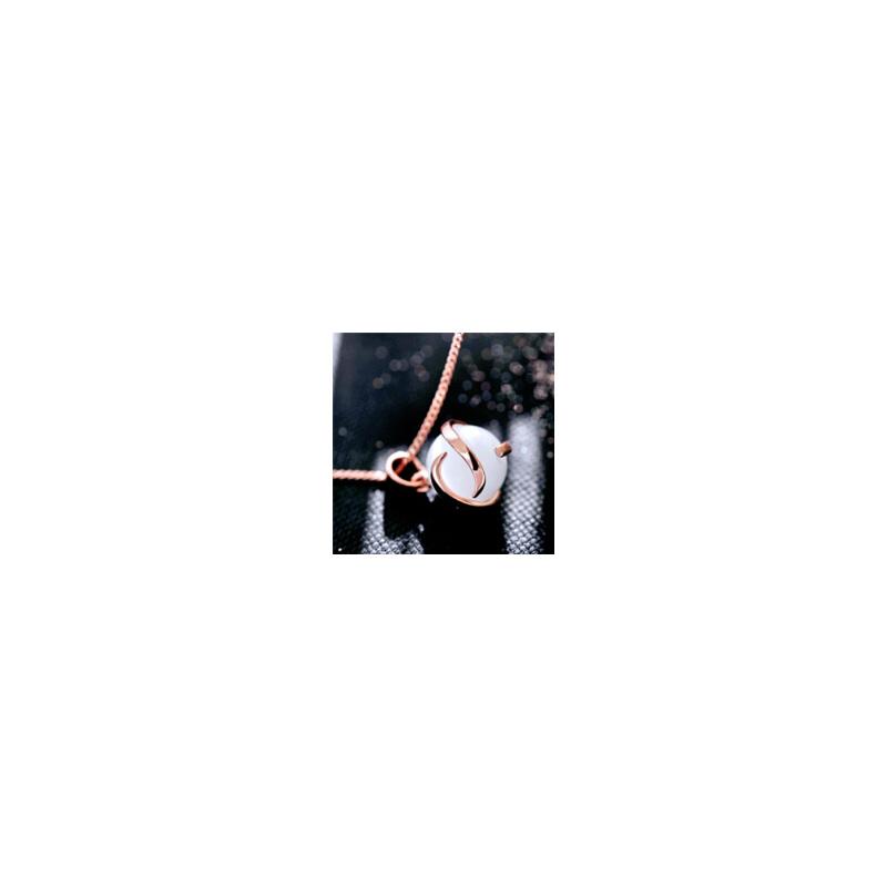 新年礼物Mbox项链 女款韩国版原创采用波西米亚风时尚猫眼石锁骨项链相守韩版潮流 小资原创 送精美包装