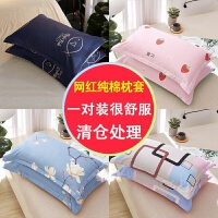 乳胶枕枕套夏季花边纱布枕套大人40乘60枕套一对枕头蝶形床单枕套