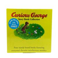 进口原版 Curious George Four Board Book Set 好奇猴乔治