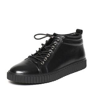 Teenmix/天美意冬专柜同款牛皮休闲舒适平跟男低靴1ZU0TDD6