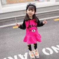 女宝宝裙子加绒加厚长袖1一3岁女童连衣裙秋冬季2018新款韩版洋气