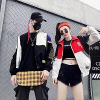 情侣外套男秋装新款风衣运动外套韩版夹克宽松男女嘻哈