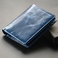 薄款小钱包 真皮超薄女士两折短款 情侣中性折叠式简约牛皮夹钱夹SN7880