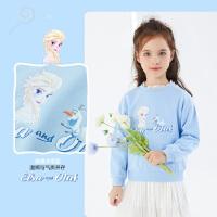 【今日3折�A估�r:45.3元】迪士尼女童�l衣2021春�b新款�和�����洋�馔��b���A�I上衣