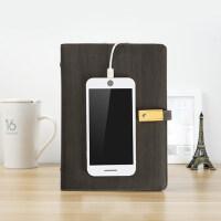 创意苹果安卓移动电源活页笔记本礼盒装书写*A5商务定制logo