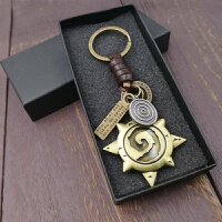 2018新款炉石传说周边Logo版钥匙扣链标志绳卡包幸运币金属挂件礼物