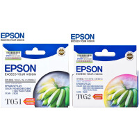 原�b�燮丈� EPSON T051 黑色墨盒 .T052 彩色墨盒 �m用于�燮丈� COLOR 740 800 850 86