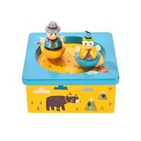 MiDeer弥鹿印第安音乐盒木质旋转音乐盒八音盒 上弦怀旧玩具