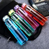 年新款玻璃杯zakka时尚日韩版厚底塑彩盖广告创意礼品水杯子