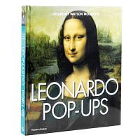 英文原版 达芬奇:立体书 Leonardo Pop-Ups 蒙娜丽莎 精装大开本 达芬奇大师艺术作品绘画集 3D纸雕创意
