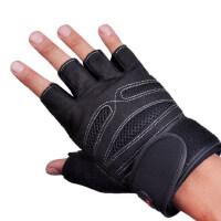 户外运动健身手套男士运动手套女器械哑铃单杠半指护腕护掌防滑透气