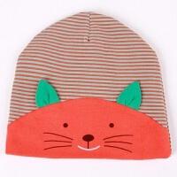 春秋冬季韩国宝宝套头帽韩版儿童帽男女潮婴儿帽子拍照 桔 3-18个月