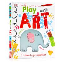 英文原版 DK 玩艺术Play With Art It's Time to Get Creative! 艺术启蒙创意启发
