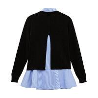 【1件3折到手价:59.7】美特斯邦威针织衫女春秋个性假两件韩版时尚套头毛衫潮新款