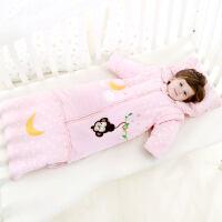 婴儿睡袋春秋冬款加厚宝宝防踢被神器可拆袖新生儿童加长四季被子