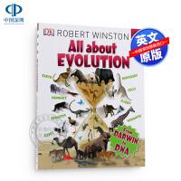 现货英文原版 DK大课题百科书 关于创新 All About Evolution 英文儿童绘本 儿童启蒙科普启蒙认知读物
