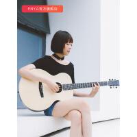 X2云杉单板学生旅行民谣木吉他36/41寸加震电箱