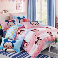 迪士尼卡通儿童床上用品床单三件套四件套全棉纯棉男孩女孩公主风