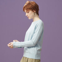 【1件3折到手价:41.7】美特斯邦威纯色薄毛衣女冬新款百搭简约打底毛衫修身上衣新款