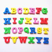 儿童早教26个大小英文字母数字拼音磁性冰箱贴白板画板磁铁磁力贴 大