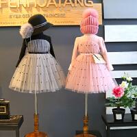 女童连衣裙 韩国冬款新品加绒保暖女宝公主裙儿童针织裙B3-S41