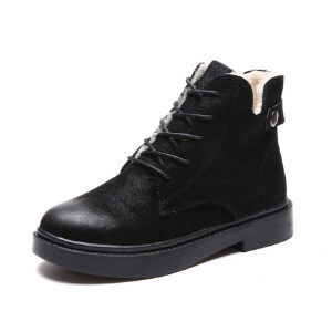 WARORWAR新品YM151-S765秋冬韩版粗跟高跟女士靴子马丁靴短靴