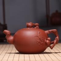 宜兴紫砂壶大茶壶礼品寿桃壶祝寿壶紫砂茶壶大水壶大壶 寿桃壶