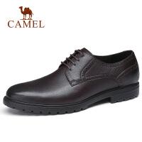 camel骆驼男鞋 秋季新款商务正装皮鞋牛皮休闲系带皮鞋办公通勤鞋