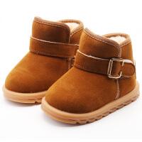 儿童雪地靴男童棉鞋小中童防滑女童靴子宝宝加绒短靴加厚2018冬季软底