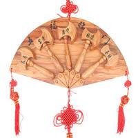 五福临门家居饰品 结婚做福桃木斧子挂件