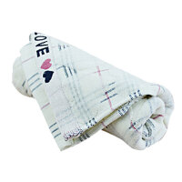 [当当自营]圣西莎纯棉加厚毛巾 舒适吸水 面巾 1067 QQ桃心割绒提花毛巾 (单条装)两种花色