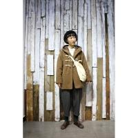 17秋冬季新款日系学院风宽松牛角扣毛呢大衣女呢子外套纯色森系 均码