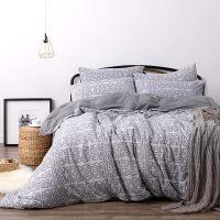 针织全棉四件套套件床上用品 贴身加厚设计床笠式裸睡佳品1.8米