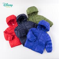 迪士尼Disney童装 男宝宝羽绒连帽外套冬季新品米奇大卡通图案羽绒服194S1150