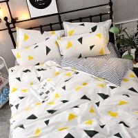???春夏季男女生潮流情侣床单四件套英伦风床品被套宿舍三件套 明黄色 美丽神话-图片色