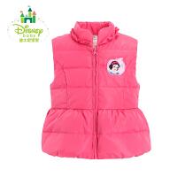 迪士尼Disney儿童羽绒马甲加厚保暖女童羽绒外套背心164S850