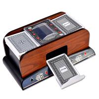 德州扑克发牌机器 斗地主木质麻将筹码洗牌器休闲娱乐聚会桌面游戏发牌快省时省力