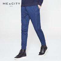 【满1000减750】MECITY牛仔裤男韩版修身弹力收脚口运动慢跑裤