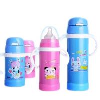 双层不锈钢保温奶瓶 宽口径保温鸭嘴吸管杯婴儿多用奶瓶