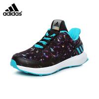 阿迪达斯adidas童鞋17新款绚丽女童跑步鞋儿童运动鞋防滑缓震户外休闲鞋 (5-15岁可选)  CP9843