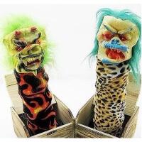 ?恐怖整人玩具恶搞吓人礼物声控整蛊国产搞怪吓一跳大木盒鬼头盒子 装电池后会发出恐怖声音
