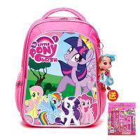 小马宝莉儿童书包幼儿园3岁小学生1-3年级女童大容量女孩双肩背包