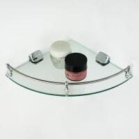 浴室置物架卫生间玻璃架单层三角架转角架不锈钢卫浴挂件收纳架