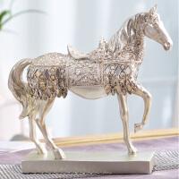 酒柜装饰品摆件马室内欧式家居创意客厅办公桌小饰品摆设工艺品